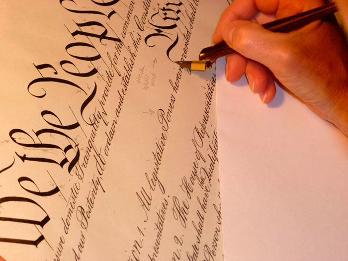 Holly Monroe Recreates Life-Sized Replica of the U.S. Constitution