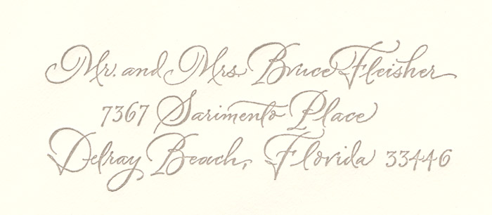 Contemporary Script Envelope