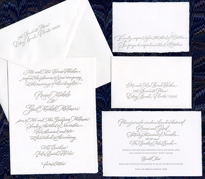 Wedding Invitation Contemporary Script