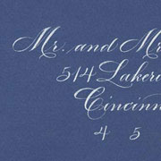 Copperplate on Colored Envelope