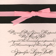 Wedding Invitation Ornamental Penmanship