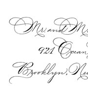 Ornamental Penmanship Envelope