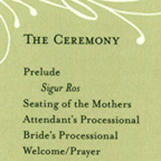 Wedding Program Front/Back