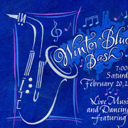 Winter Blues Bash Invitation